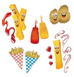 Potatoes french fries vector
