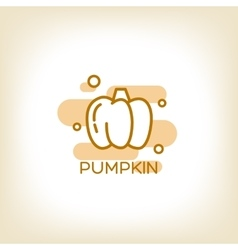 Pumpkin logo design template vector