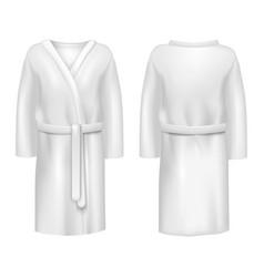 realistic 3d detailed white blank bathrobe vector image