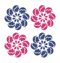 red blue flowers good for logo graphic vector image
