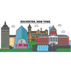 Rochester new york city skyline architecture vector
