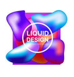set background style abstract liquid splash bubble vector image
