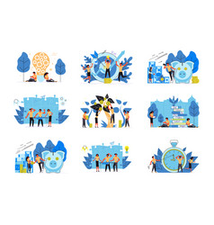 Set business concept isolated vector
