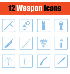 set of twelve weapon icons vector image