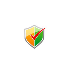 Shield check list protect logo vector