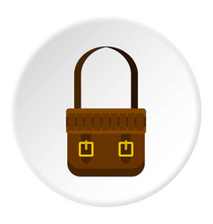 Shoulder bag icon circle vector