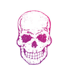 skull with gradient on white t-shirt print vector image