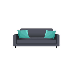 sofa with pillows collection vector image