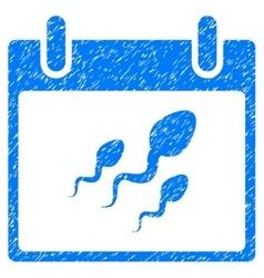 Sperm calendar day grainy texture icon vector