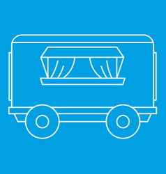 street food trailer icon outline style vector image