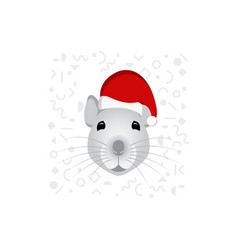 symbol chinese new year 2020 is a mouse vector image