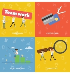 Teamwork Icon credit card Search for new ideas vector