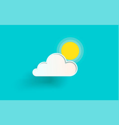 The cloud and the sun vector