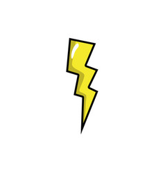 Thunder weather patch style design vector