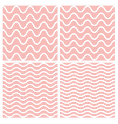 tile seamless pattern set with wavy background vector image
