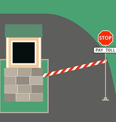toll booth stop sign vector image