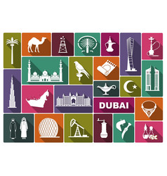 Traditional symbols of uae vector