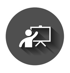 training education icon in flat style people vector image