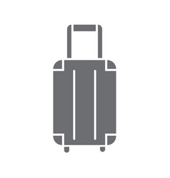travel bag or suitcase icon vector image