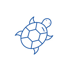 turtle line icon concept turtle flat vector image