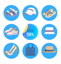 Twenty percents sale banner vector