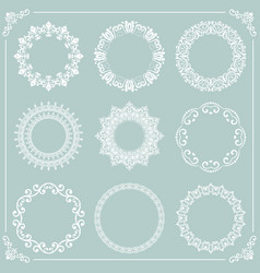 Vintage set of round elements vector