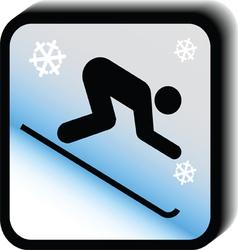 Winter icon -downhill vector image