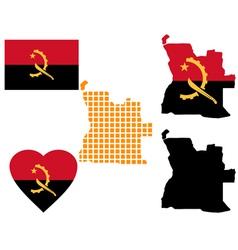 map of Angola vector image vector image