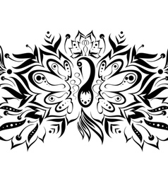 pattern with a magic bird vector image