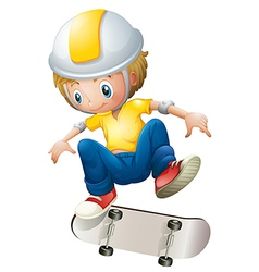 A boy playing with the rollerskate vector image vector image