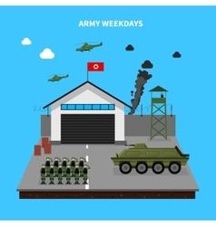 Army Weekdays vector image