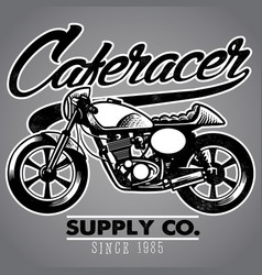 caferacer motorcycle vector image vector image