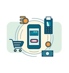 Contactless mobile payment vector image vector image