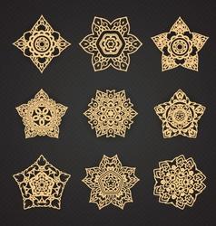 Line thai pattern set vector