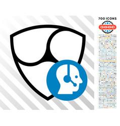 nem call center flat icon with bonus vector image vector image