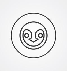 penguin outline symbol dark on white background vector image vector image