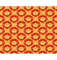 Red Chinese Lantern seamless pattern background vector image