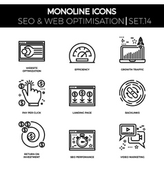 Seo and web opimization vector image vector image