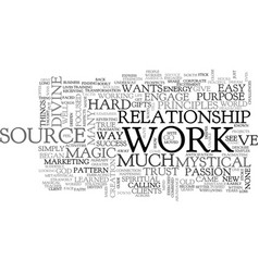 who wants to work text word cloud concept vector image
