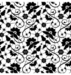 black lace with flower vector image