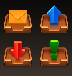 mailbox icons vector image vector image
