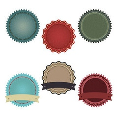 Promo badges vector