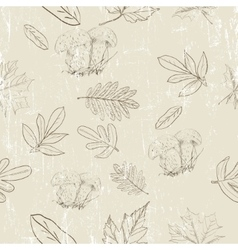 Seamless texture with autumn nature vector image vector image