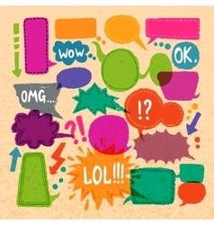 Bubble speech icons set vector image vector image