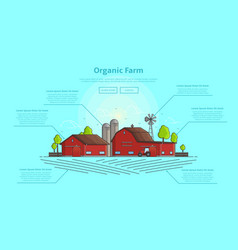 concept of web banner with farm and infographic vector image