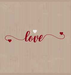grunge love background vector image vector image