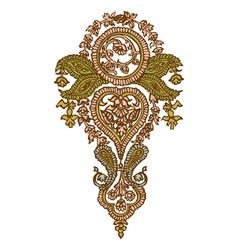 Henna Indian Paisley vector image