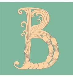 Letter B - Script vector image vector image