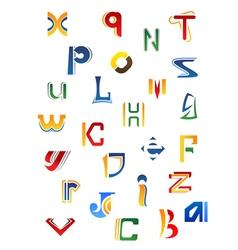 Set of full alphabet decorative letters vector image
