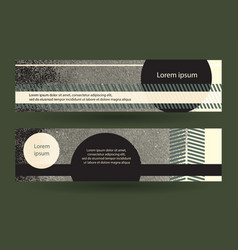 Abstract grungy horizontal layout vector
